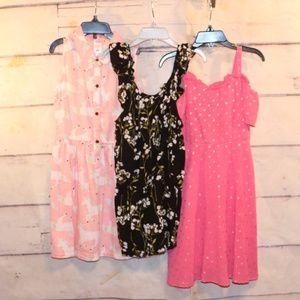 Girls Size 5/6 2 Dresses 1 Romper Justice Carter's